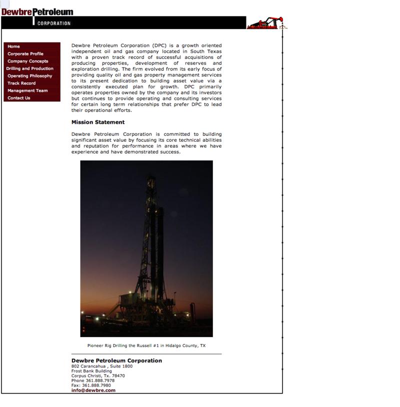 Dewbre Petroleum Corporation-before